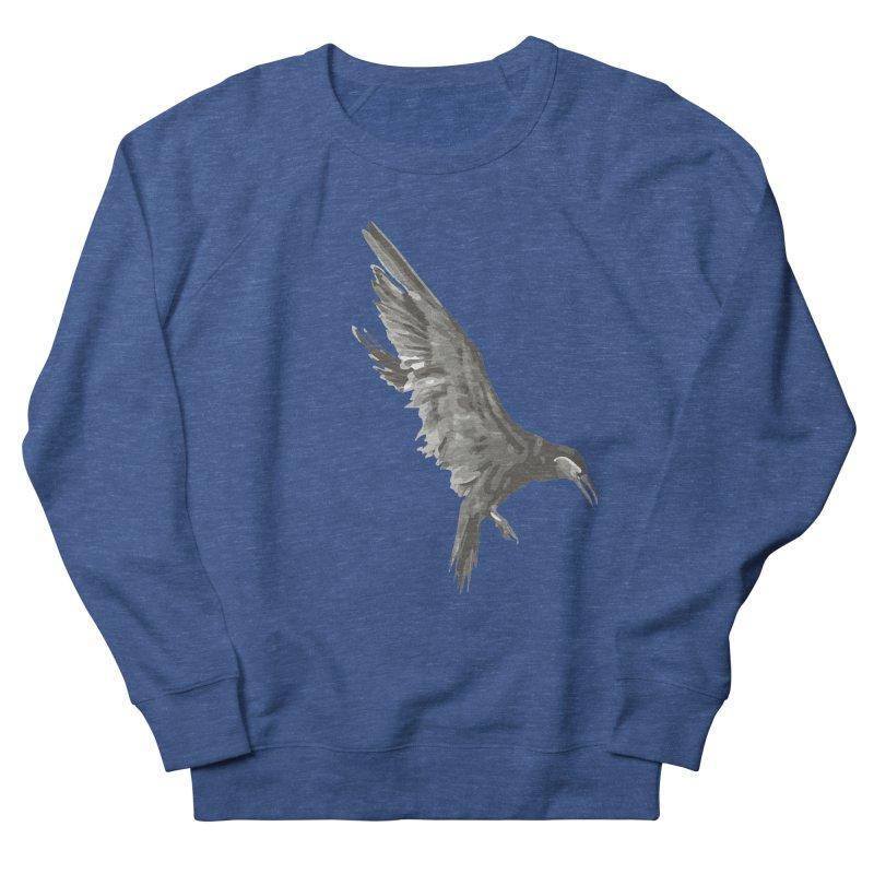 b i r d Women's French Terry Sweatshirt by irinescu's Artist Shop