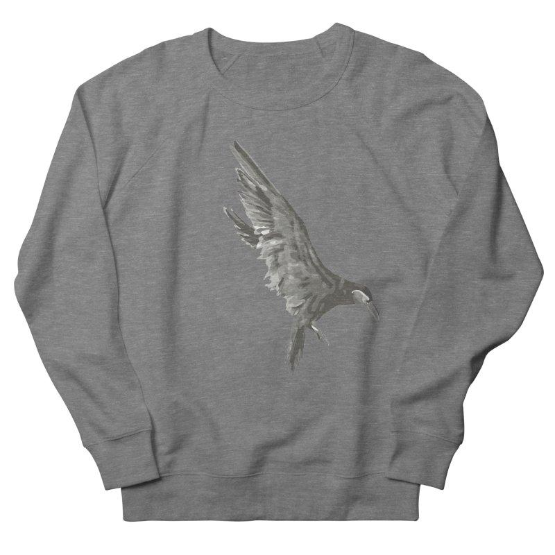 b i r d Men's French Terry Sweatshirt by irinescu's Artist Shop