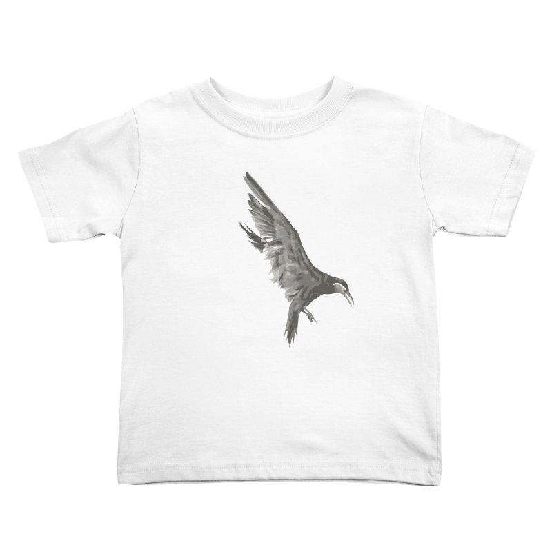 b i r d Kids Toddler T-Shirt by irinescu's Artist Shop