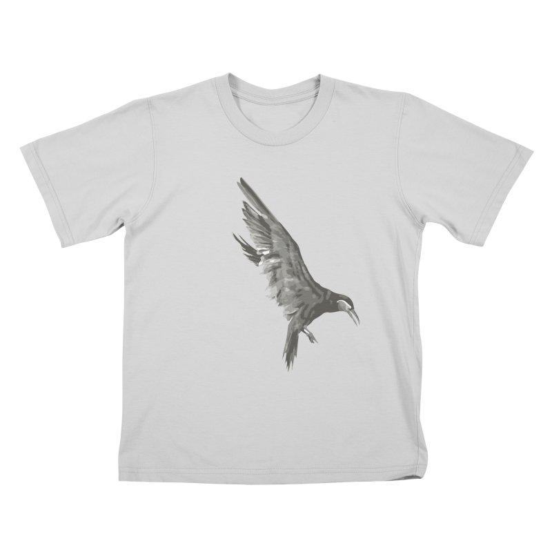 b i r d Kids T-Shirt by irinescu's Artist Shop