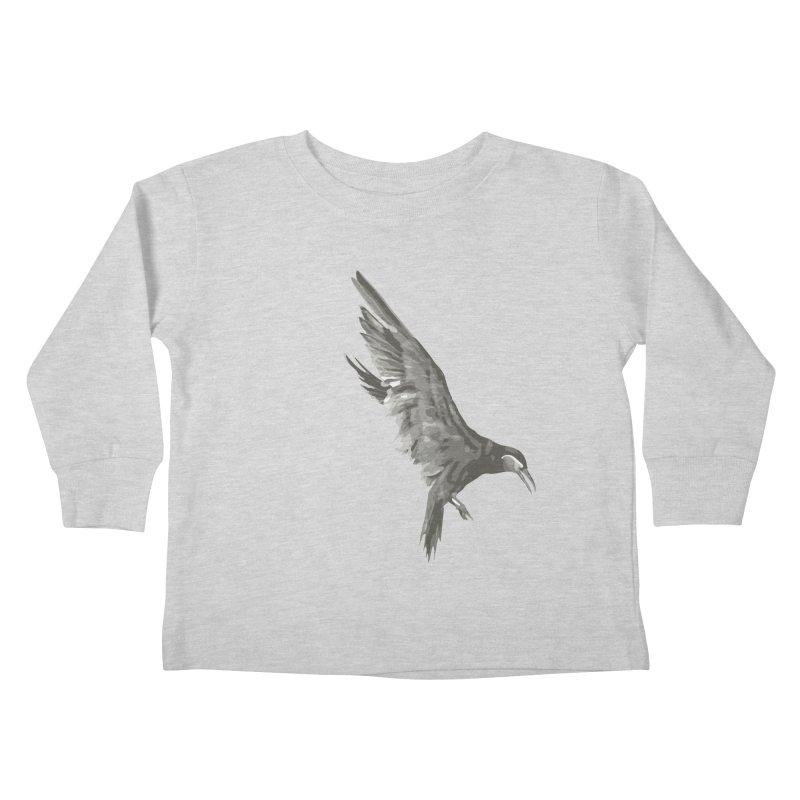 b i r d Kids Toddler Longsleeve T-Shirt by irinescu's Artist Shop