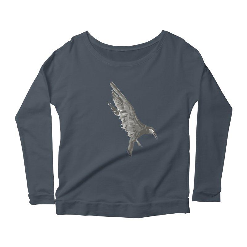 b i r d Women's Scoop Neck Longsleeve T-Shirt by irinescu's Artist Shop
