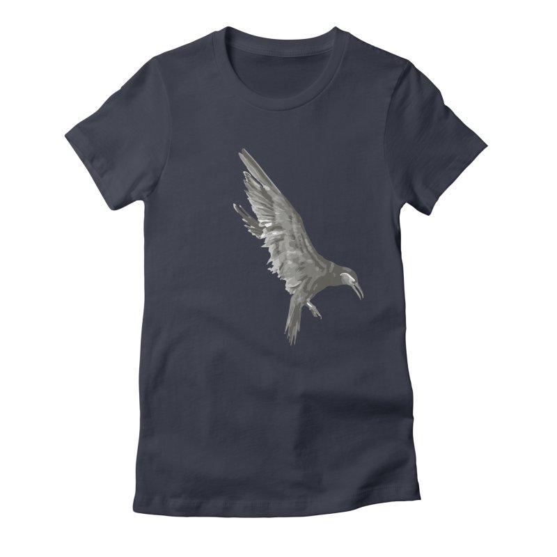 b i r d Women's Fitted T-Shirt by irinescu's Artist Shop