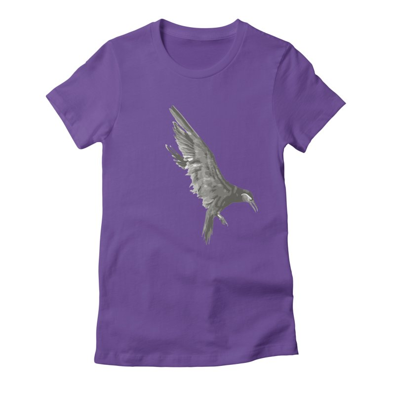 b i r d Women's Fitted T-Shirt by irinescu's Artist Shop