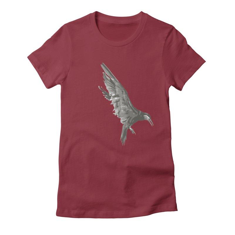 b i r d Women's T-Shirt by irinescu's Artist Shop