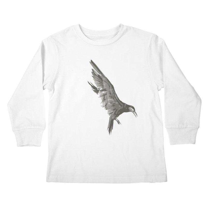 b i r d Kids Longsleeve T-Shirt by irinescu's Artist Shop