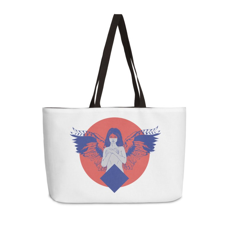 the strange Accessories Weekender Bag Bag by irinescu's Artist Shop