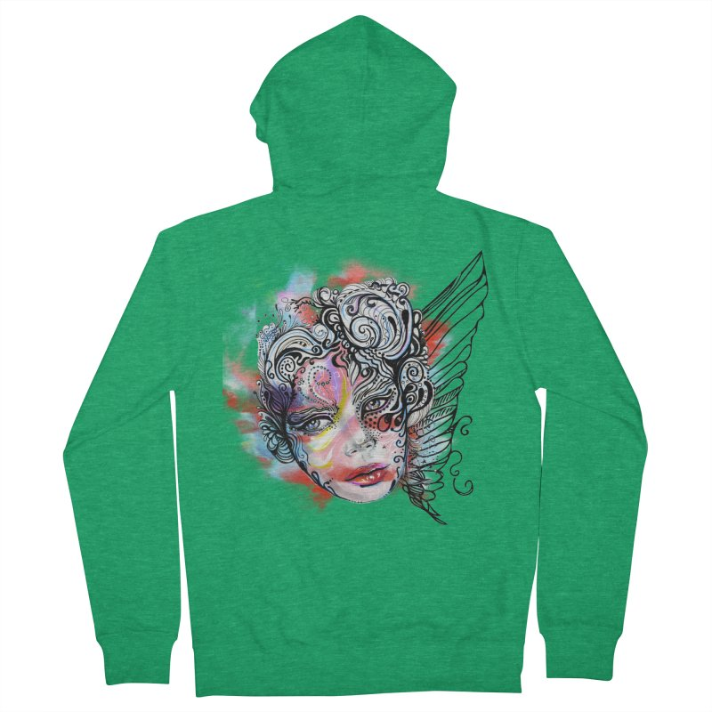 Angel Women's Zip-Up Hoody by irmaksdesign's Artist Shop