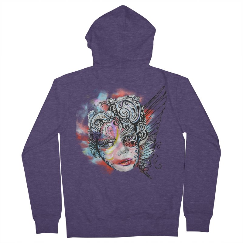 Angel Men's Zip-Up Hoody by irmaksdesign's Artist Shop