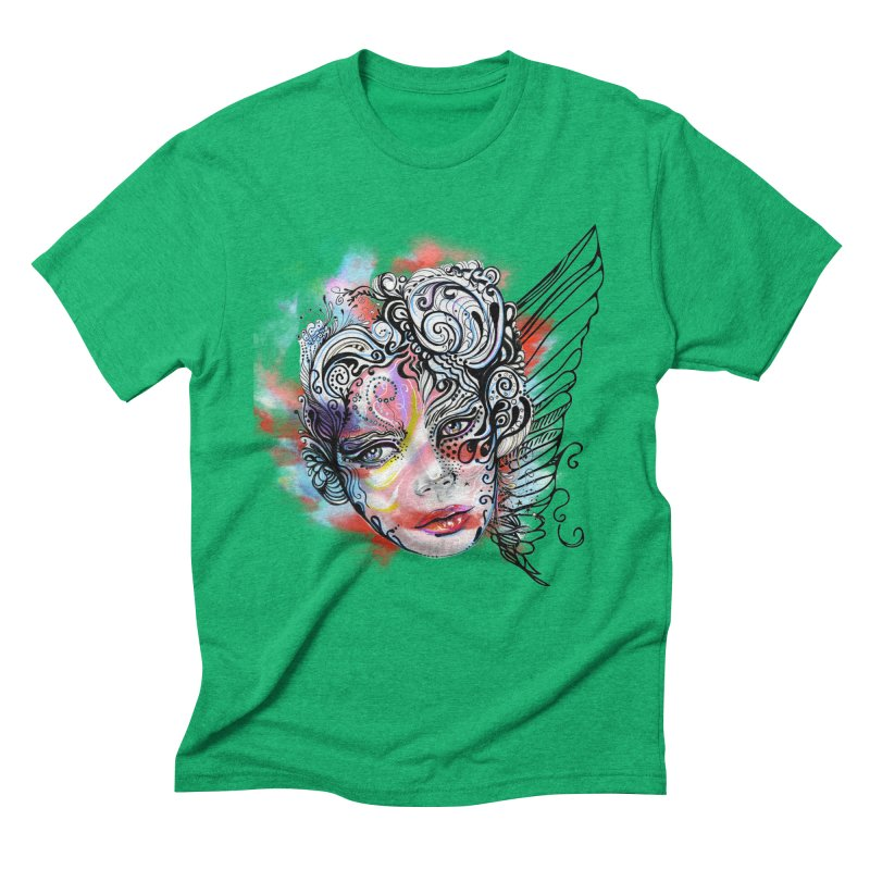 Angel Men's Triblend T-Shirt by irmaksdesign's Artist Shop