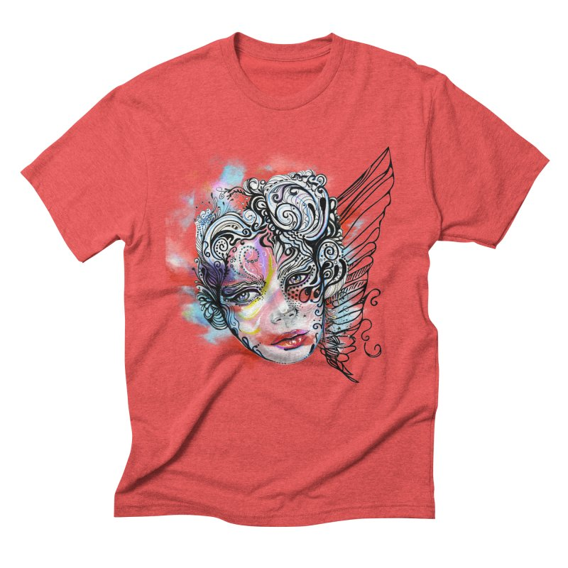 Angel Men's Triblend T-shirt by irmaksdesign's Artist Shop