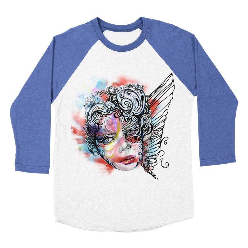 Angel Women's Baseball Triblend T-Shirt by irmaksdesign's Artist Shop