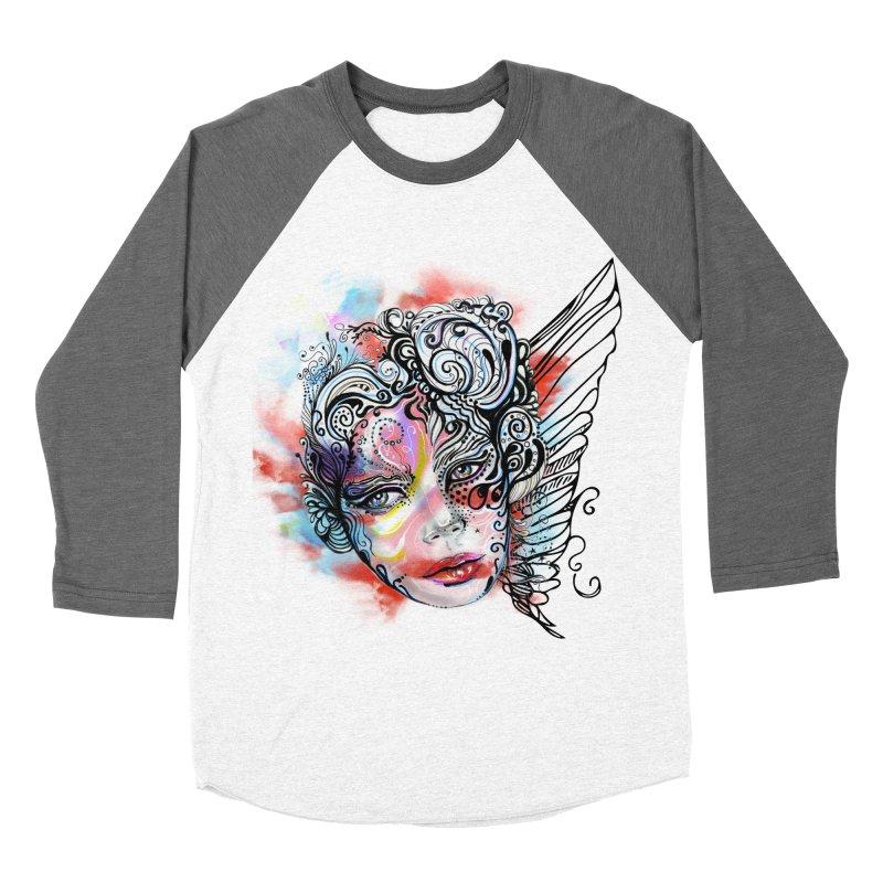 Angel Men's Baseball Triblend T-Shirt by irmaksdesign's Artist Shop