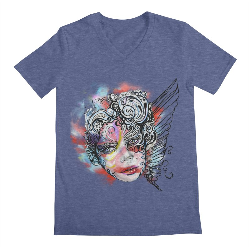 Angel Men's V-Neck by irmaksdesign's Artist Shop