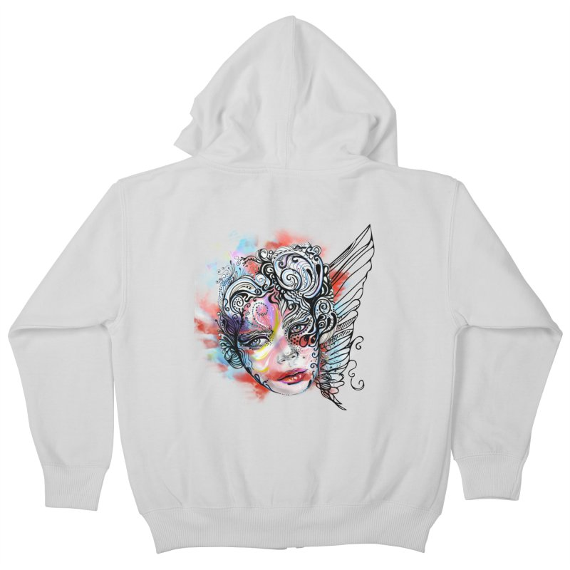 Angel Kids Zip-Up Hoody by irmaksdesign's Artist Shop
