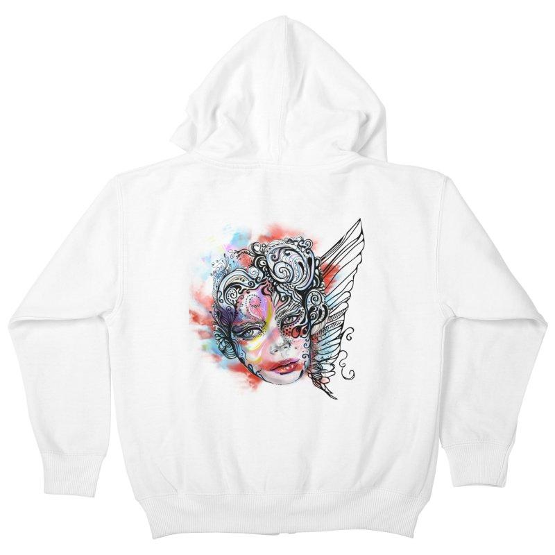 Angel Kids Zip-Up Hoody by irmaksdesign's Artist Shop
