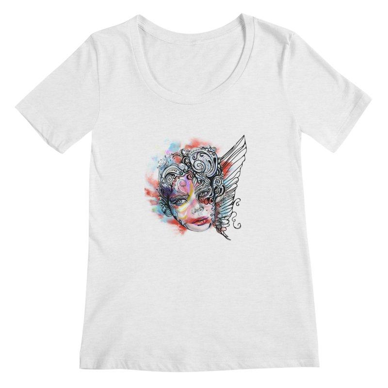 Angel Women's Scoopneck by irmaksdesign's Artist Shop