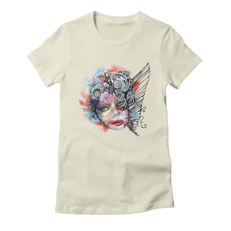 Angel Women's Fitted T-Shirt by irmaksdesign's Artist Shop