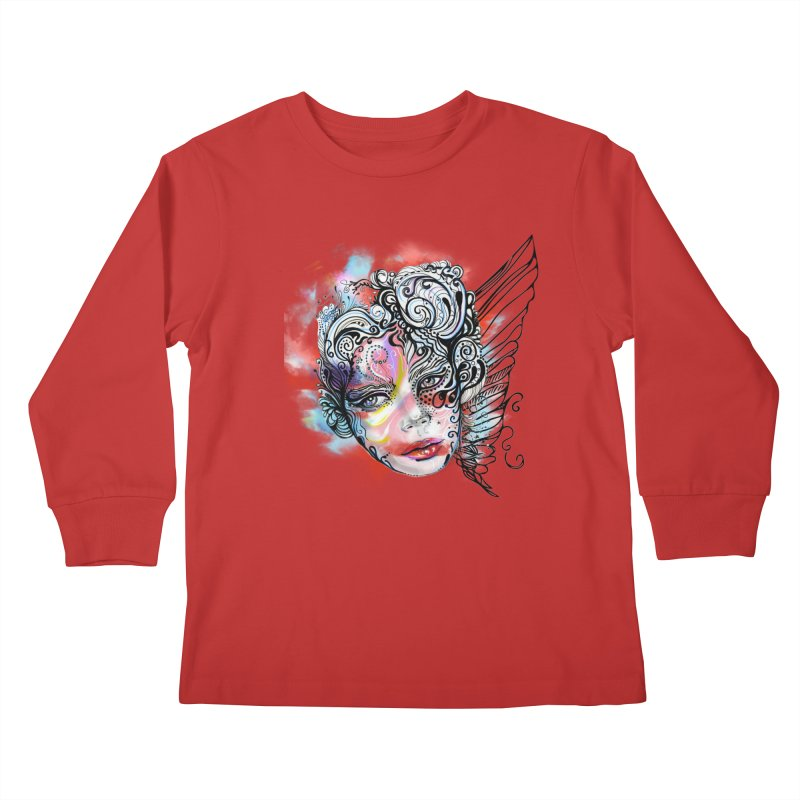 Angel Kids Longsleeve T-Shirt by irmaksdesign's Artist Shop