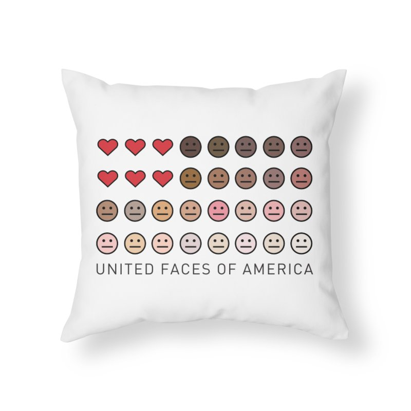 United Faces of America Home Throw Pillow by ironblender