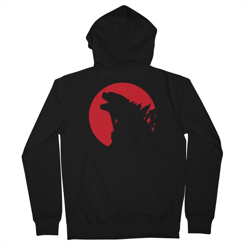 Godzy's Red Moon Men's Zip-Up Hoody by IRONSAURUS SHOP