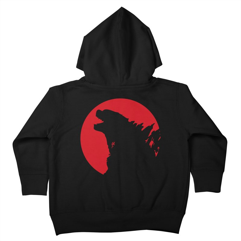 Godzy's Red Moon Kids Toddler Zip-Up Hoody by IRONSAURUS SHOP