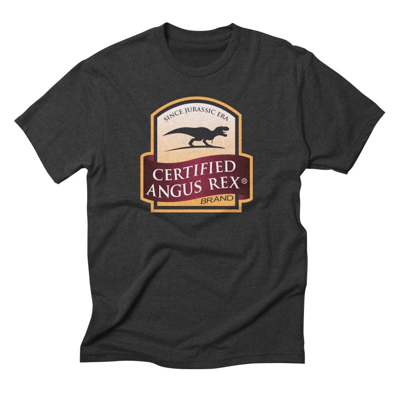 Certified Angus Rex in Men's Triblend T-Shirt Heather Onyx by IRONSAURUS SHOP