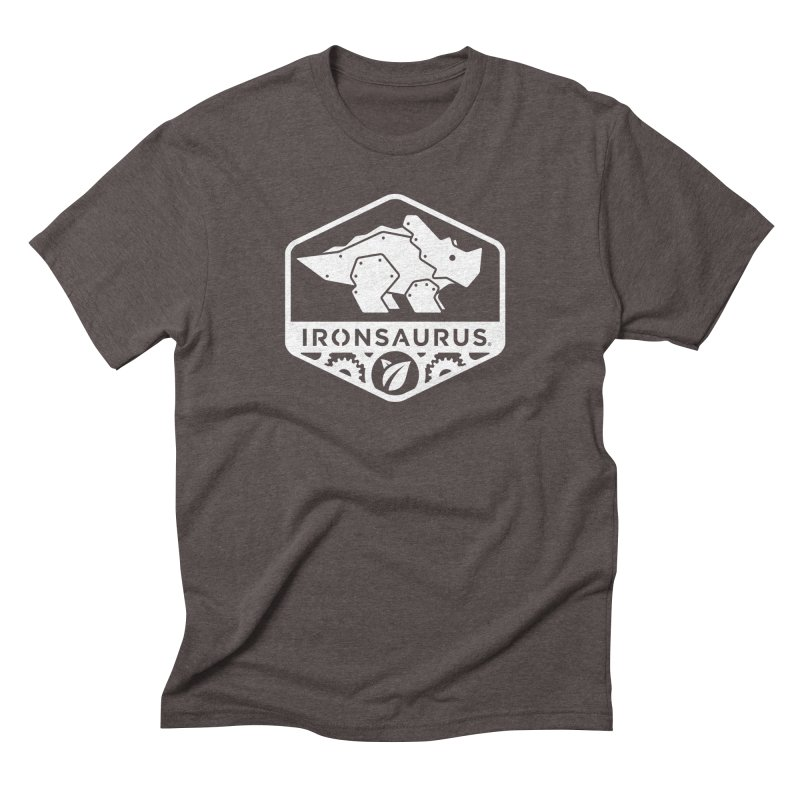 IRONSAURUS Oficial Brand in Men's Triblend T-Shirt Tri-Coffee by IRONSAURUS SHOP