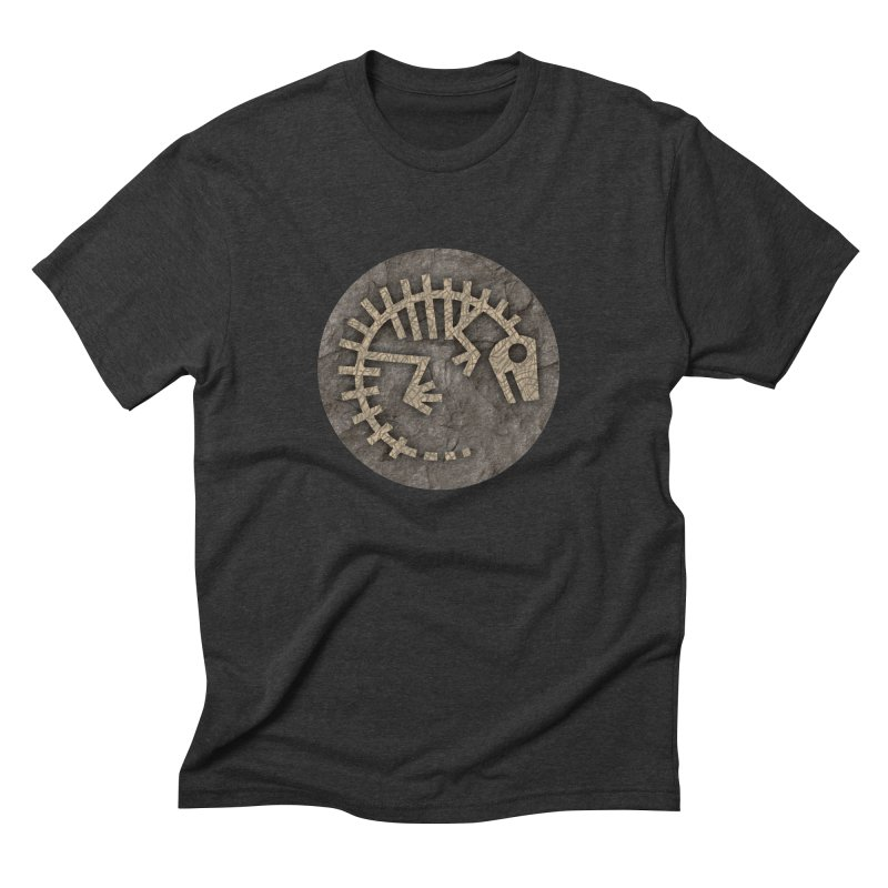 Baby Rex Fossil in Men's Triblend T-Shirt Heather Onyx by IRONSAURUS SHOP