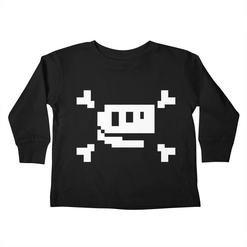Crossbones Rex - J8P Kids Toddler Longsleeve T-Shirt by IRONSAURUS SHOP