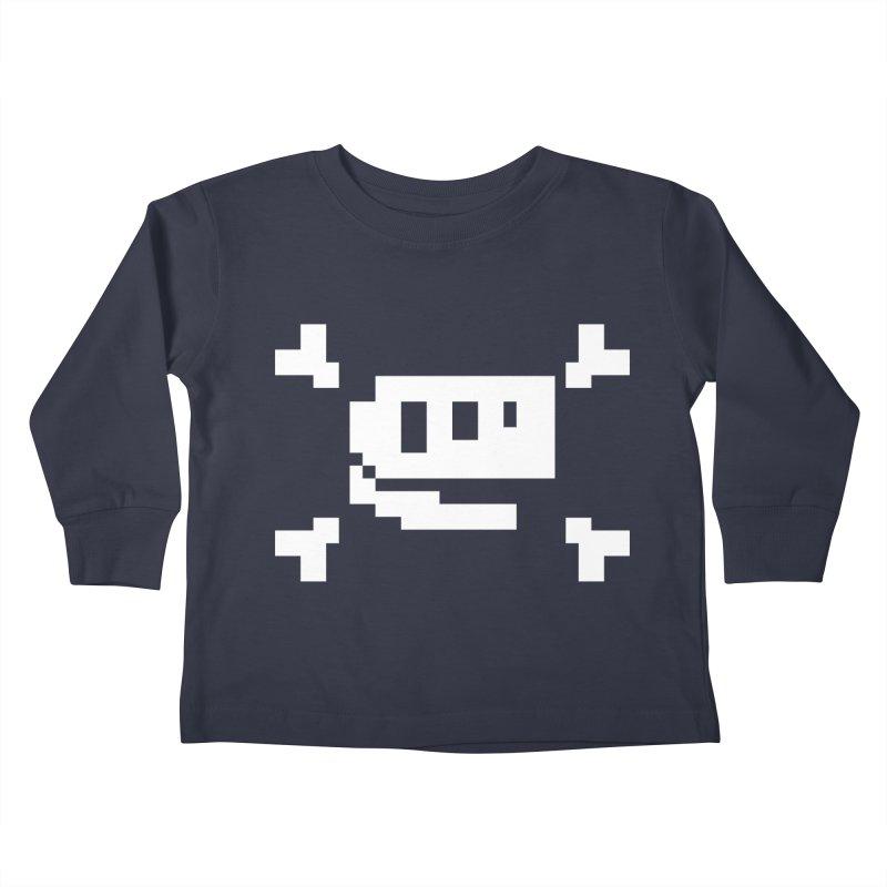 Crossbones Rex - J8P Kids Toddler Longsleeve T-Shirt by IRONSAURUS SHOP