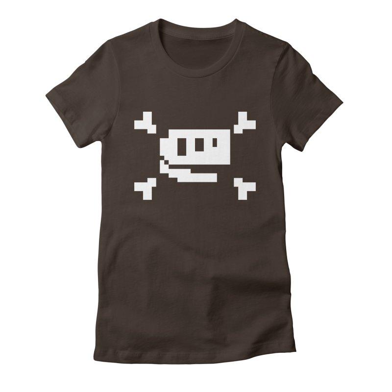 Crossbones Rex - J8P Women's Fitted T-Shirt by IRONSAURUS SHOP