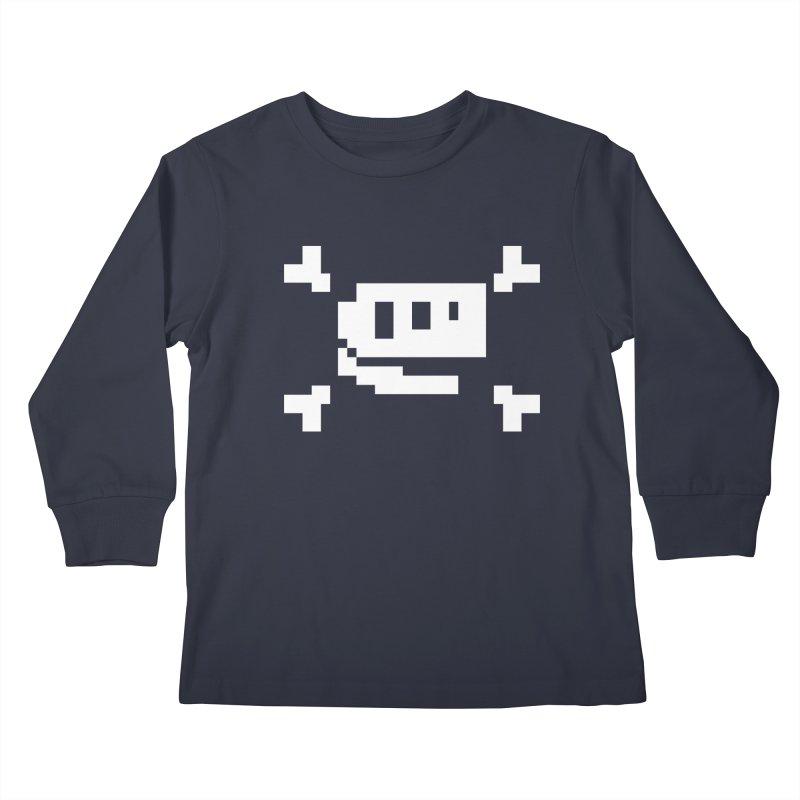 Crossbones Rex - J8P Kids Longsleeve T-Shirt by IRONSAURUS SHOP