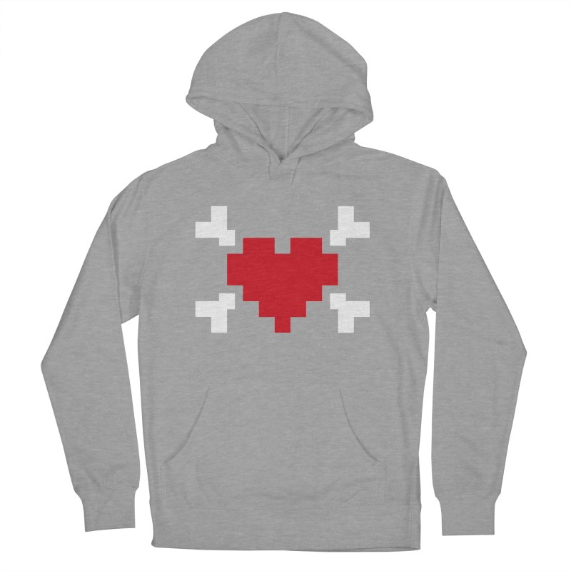 Crossbones Heart Women's Pullover Hoody by IRONSAURUS SHOP