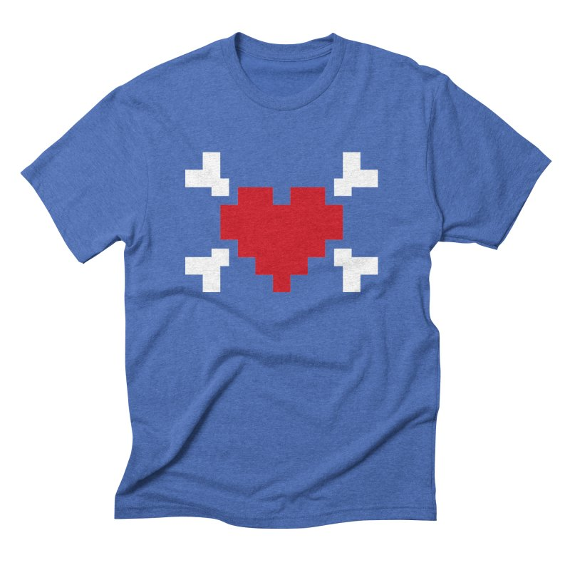 Crossbones Heart Men's Triblend T-Shirt by IRONSAURUS SHOP