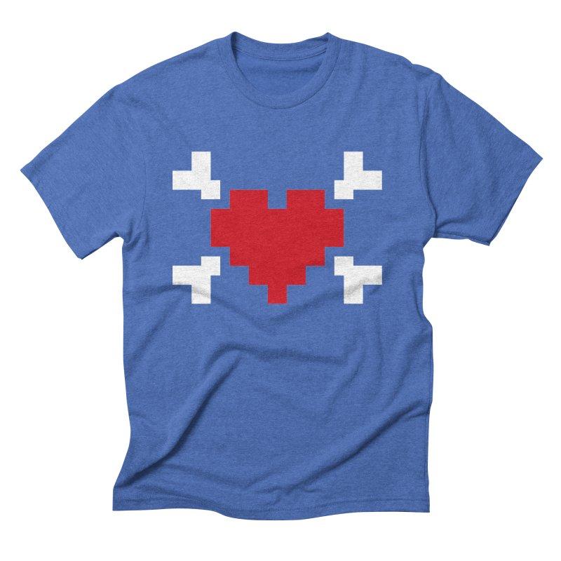 Crossbones Heart Men's Triblend T-shirt by IRONSAURUS SHOP