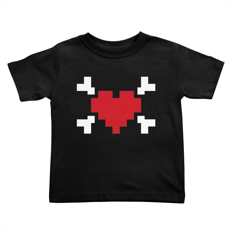 Crossbones Heart Kids Toddler T-Shirt by IRONSAURUS SHOP