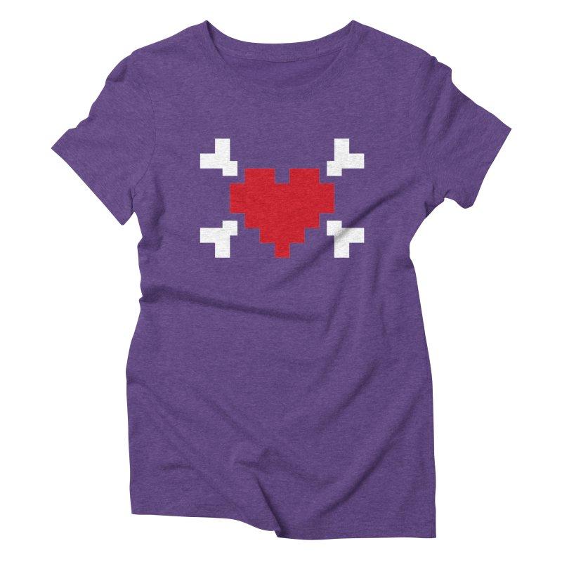 Crossbones Heart Women's T-Shirt by IRONSAURUS SHOP