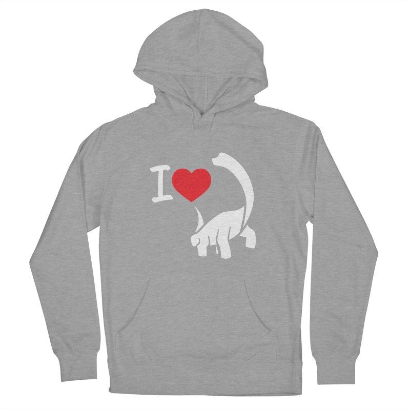 I Love Dinos <3 Women's Pullover Hoody by IRONSAURUS SHOP