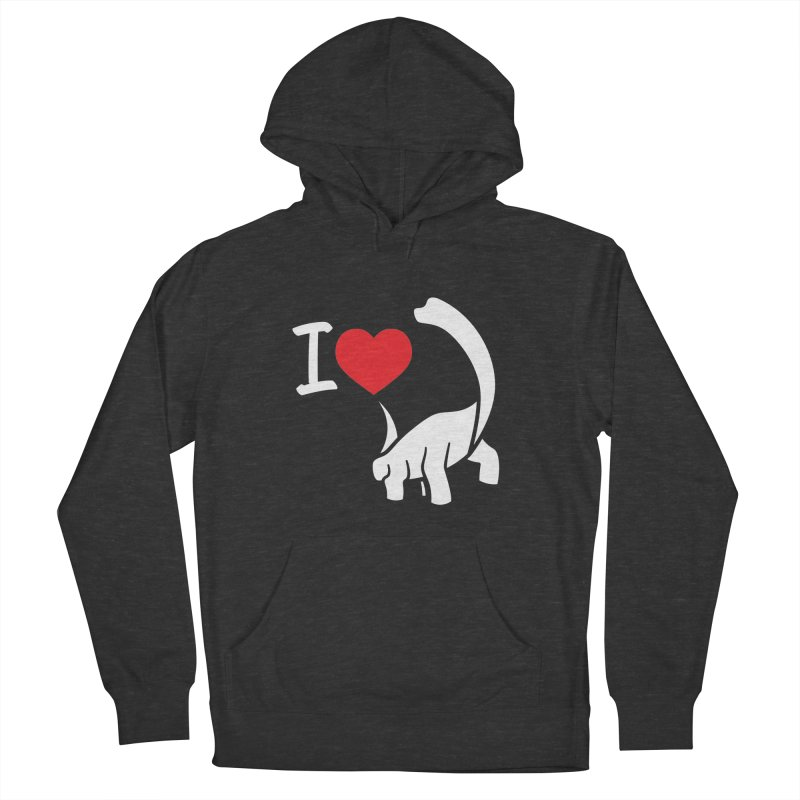 I Love Dinos <3 Men's French Terry Pullover Hoody by IRONSAURUS SHOP