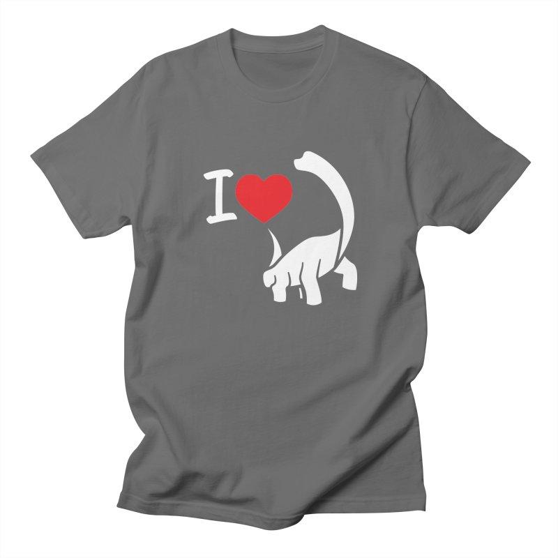 I Love Dinos <3 Men's T-Shirt by IRONSAURUS SHOP