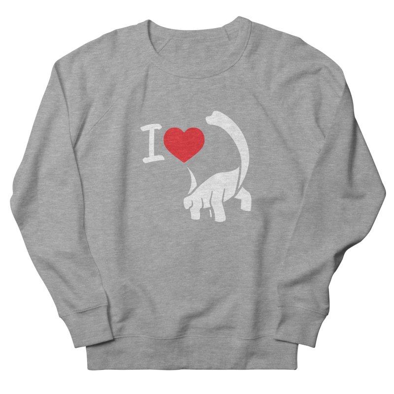 I Love Dinos <3 Women's French Terry Sweatshirt by IRONSAURUS SHOP