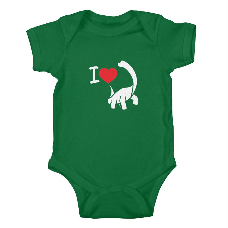I Love Dinos <3 Kids Baby Bodysuit by IRONSAURUS SHOP