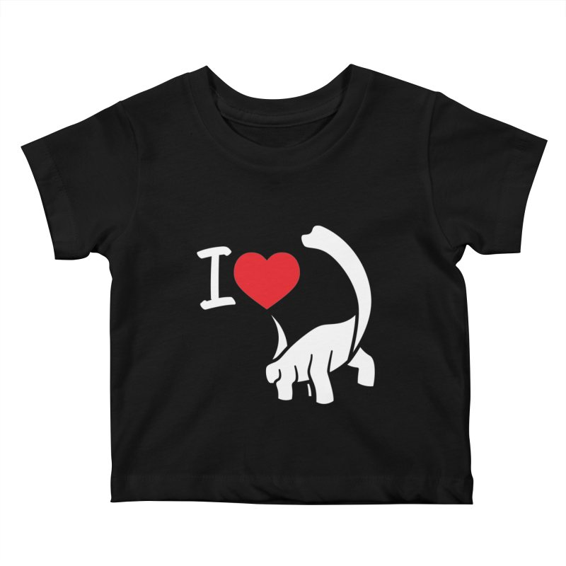 I Love Dinos <3 Kids Baby T-Shirt by IRONSAURUS SHOP