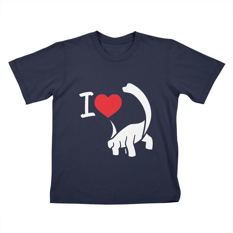 I Love Dinos <3 Kids T-Shirt by IRONSAURUS SHOP