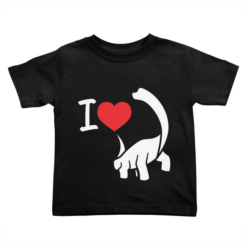 I Love Dinos <3 Kids Toddler T-Shirt by IRONSAURUS SHOP