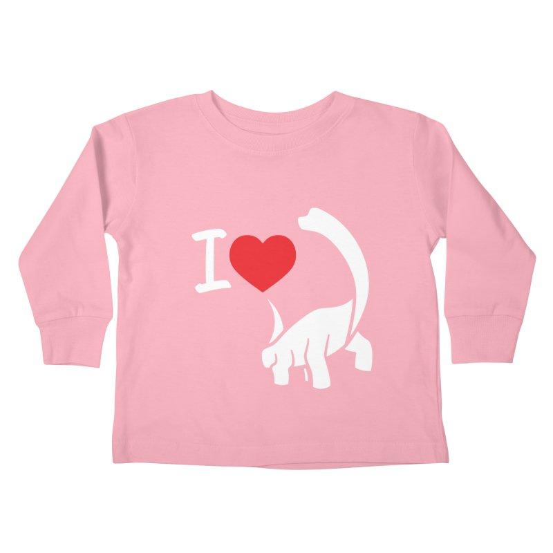I Love Dinos <3 Kids Toddler Longsleeve T-Shirt by IRONSAURUS SHOP