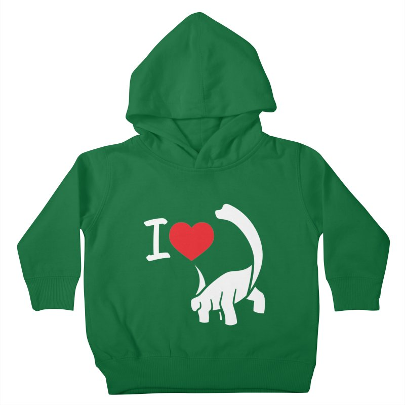 I Love Dinos <3 Kids Toddler Pullover Hoody by IRONSAURUS SHOP