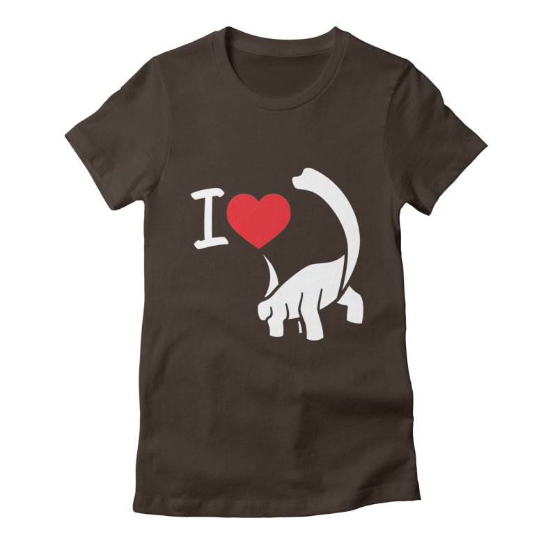 I Love Dinos <3 Women's Fitted T-Shirt by IRONSAURUS SHOP
