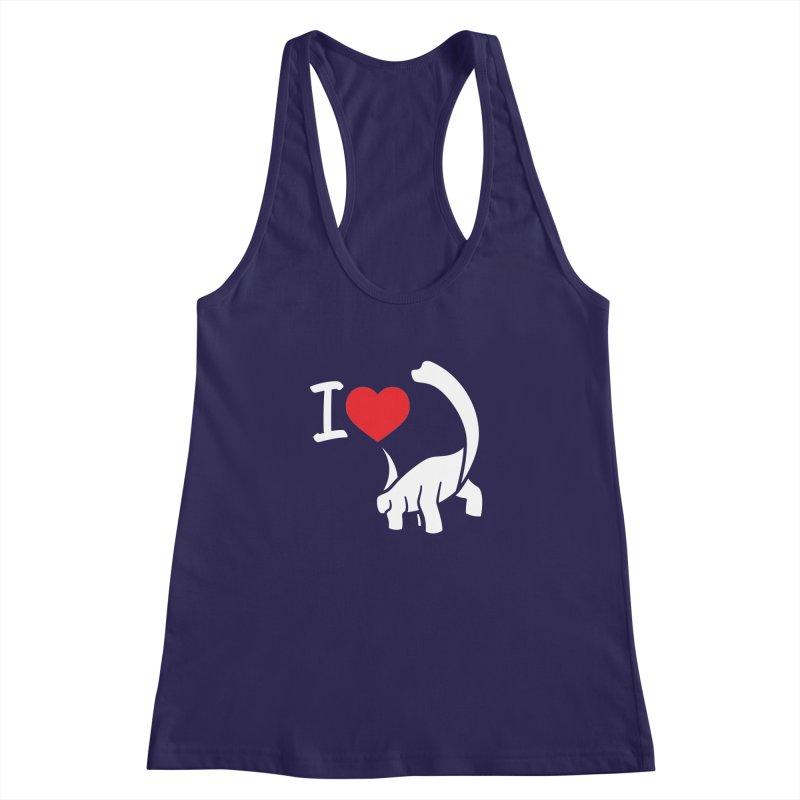 I Love Dinos <3 Women's Racerback Tank by IRONSAURUS SHOP
